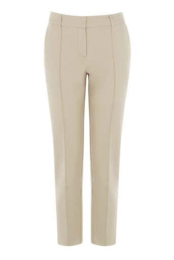 Warehouse, COMPACT COTTON TROUSERS Stone 0
