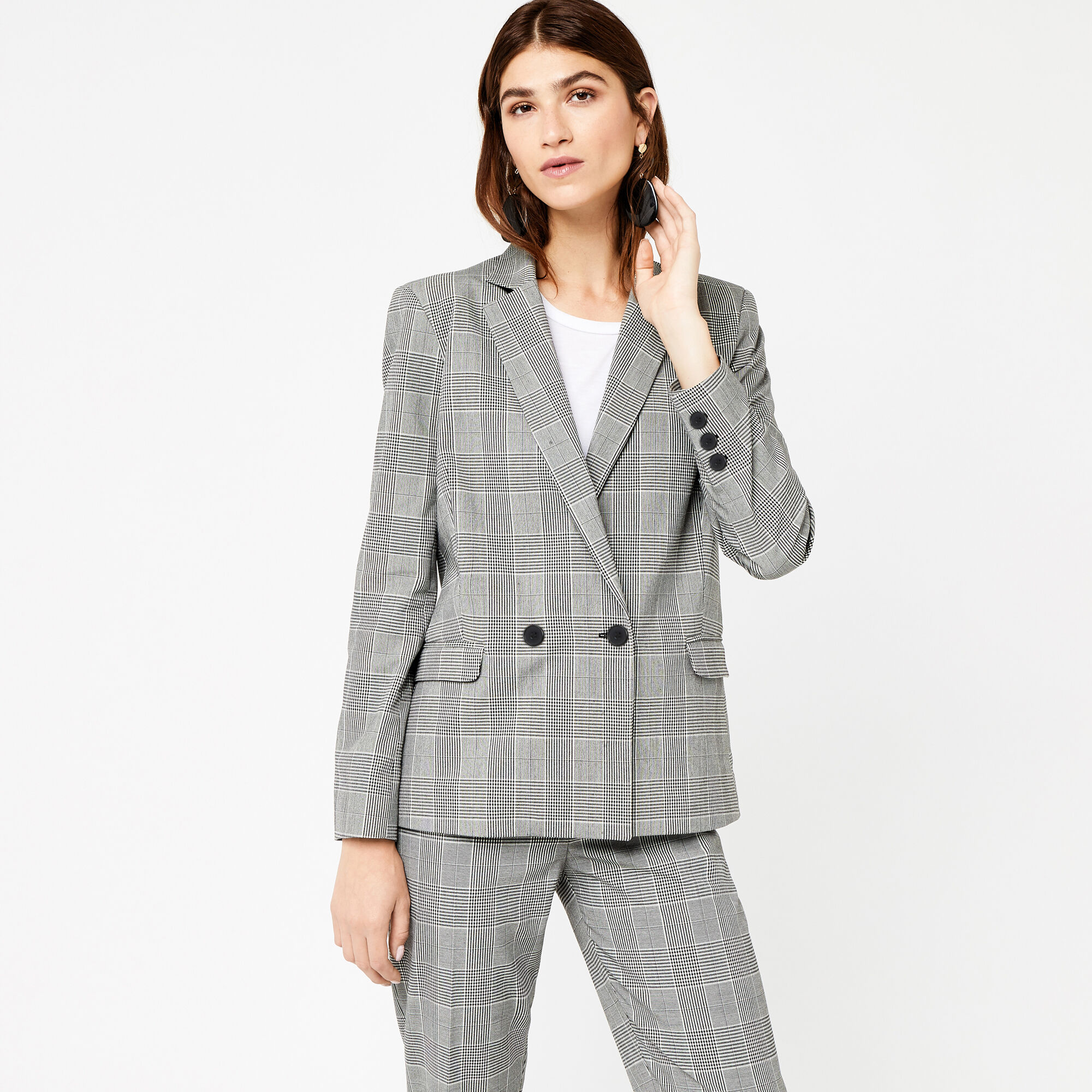 Warehouse, MONO CHECK BLAZER Multi 1