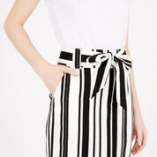 Warehouse, TEXTURED STRIPE PENCIL SKIRT Black Stripe 4