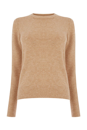 Warehouse, SOFT CREW JUMPER Stone 0