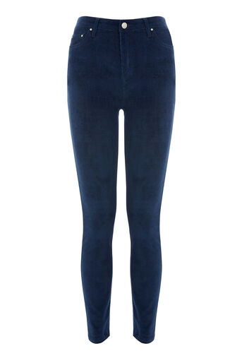 Warehouse, CORD SKINNY CUT JEAN Navy 0