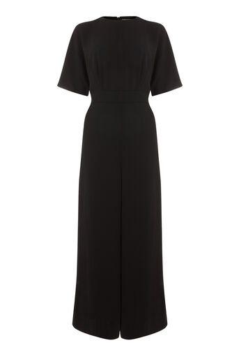 Warehouse, WIDE LEG JUMPSUIT Black 0