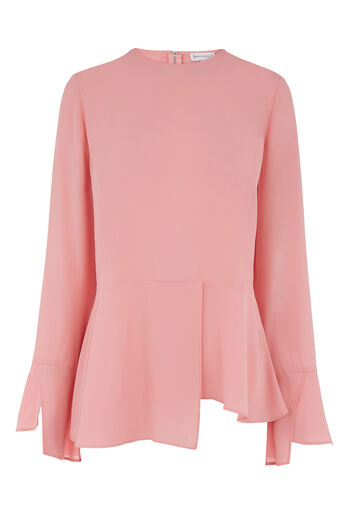 Warehouse, PEPLUM HEM TOP Light Pink 0
