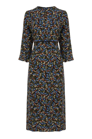 Warehouse, DITSY FLORAL MIDI DRESS Multi 0