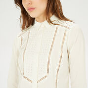 Warehouse, Broderie Mix Shirt White 4
