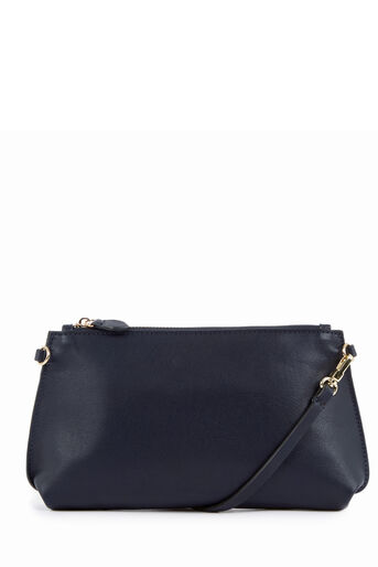 Warehouse, Bonded Slim Crossbody Bag Navy 0