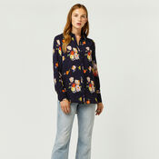Warehouse, VICTORIA FLORAL SHIRT Navy 2