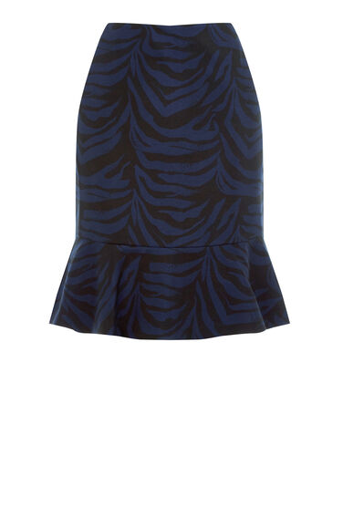 Warehouse, ZEBRA PEPLUM SKIRT Multi 0