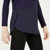 Warehouse, WOVEN MIX LONG SLEEVED TOP Navy 4
