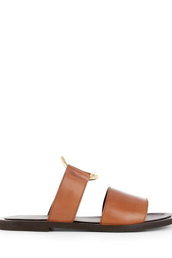 Warehouse, RING DETAIL LEATHER SANDALS Tan 0