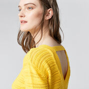 Warehouse, STITCHY OPEN BACK JUMPER Yellow 4