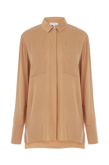Warehouse, PATCH POCKET SHIRT Peach 0