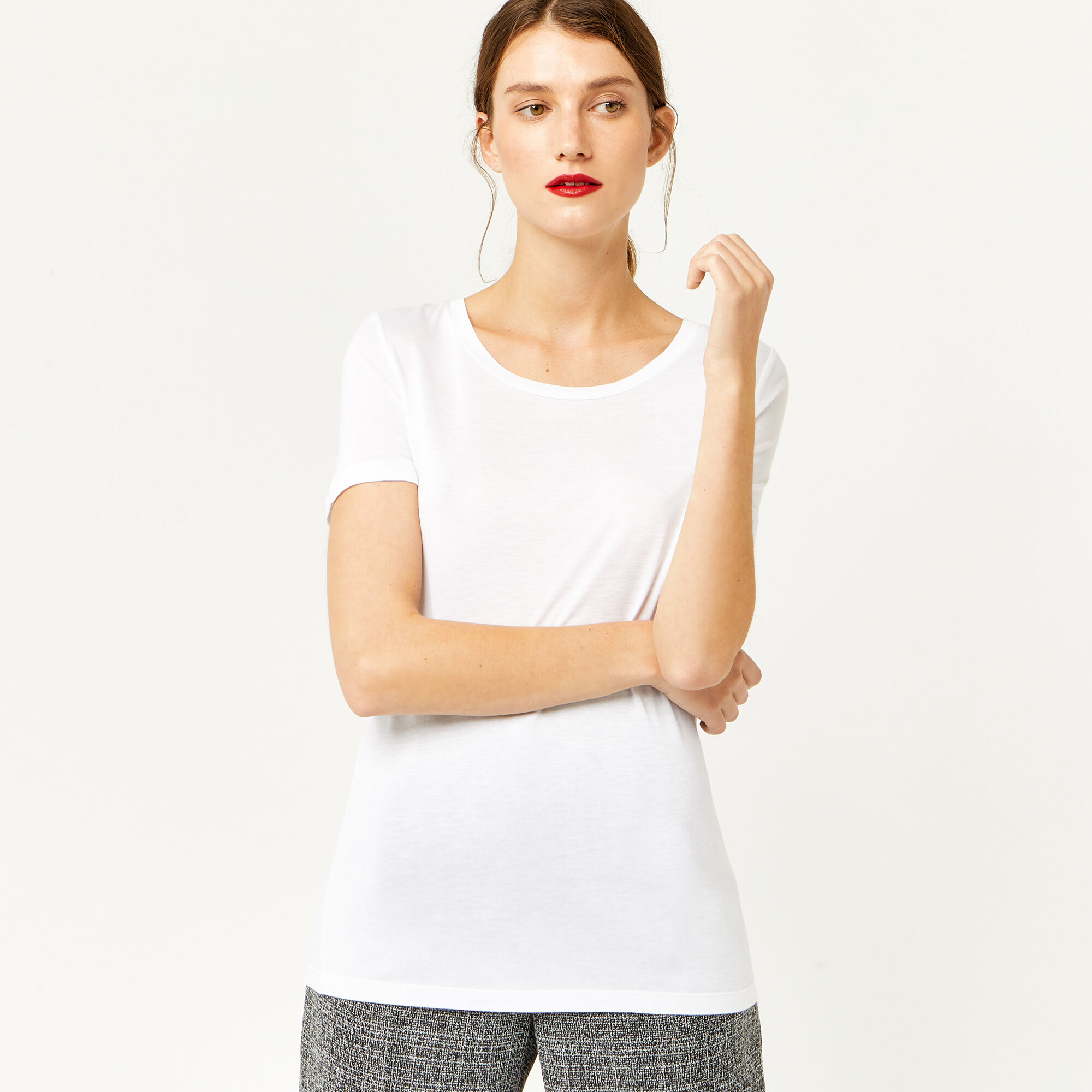 Warehouse, SMART T-SHIRT White 1