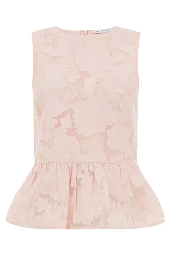 Warehouse, BURN OUT TOP Light Pink 0