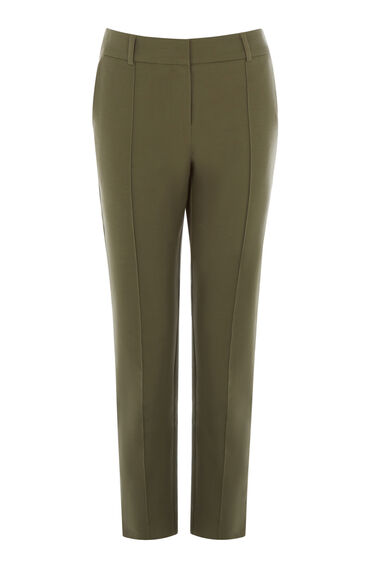 Warehouse, COMPACT COTTON TROUSERS Khaki 0
