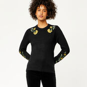 Warehouse, COSY FLORAL EMBROIDERED JUMPER Black 4