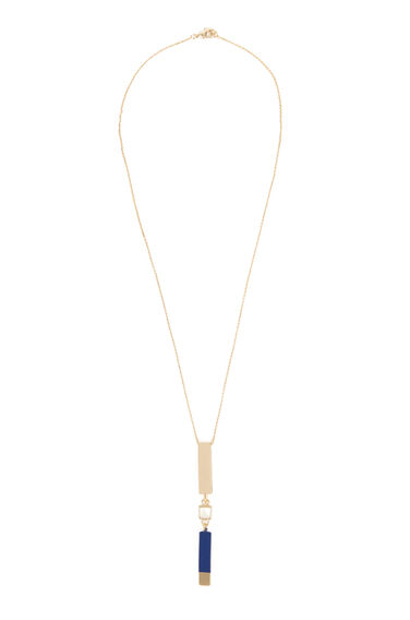 Warehouse, Long Link Asymmetric Necklace Gold Colour 0