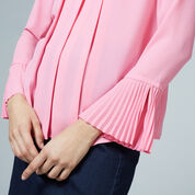 Warehouse, BOX PLEAT TOP Bright Pink 4