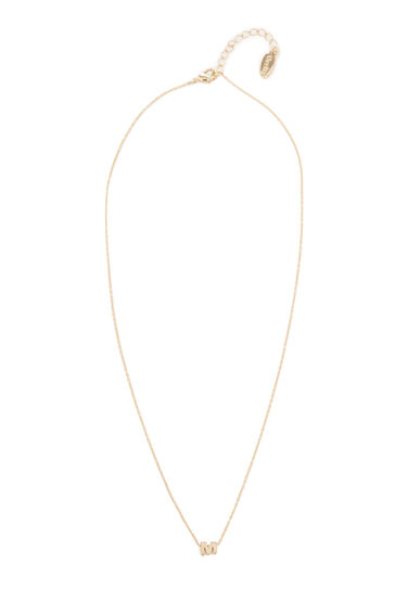 Warehouse, PERSONALISED NECKLACE M Gold Colour 0