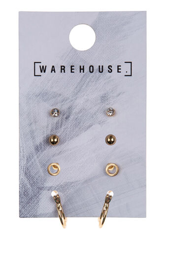 Warehouse, Stud and Hoop Earring Pack Multi 0