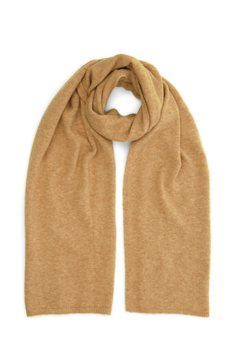 Warehouse, COSY KNIT SCARF Camel 0