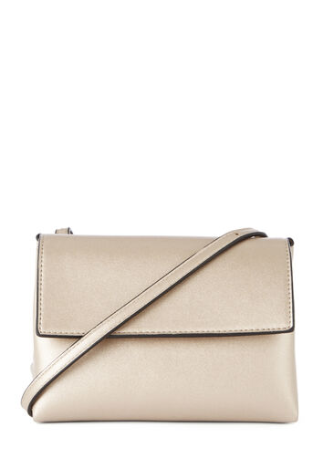 Warehouse, TRIANGLE CROSS BODY BAG Gold Colour 0