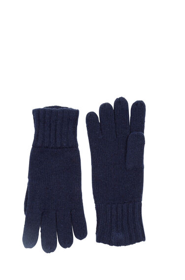 Warehouse, CASHMERE GLOVES Navy 0