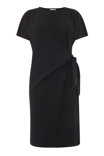 Warehouse, TIE SIDE TWILL DRESS Black 0