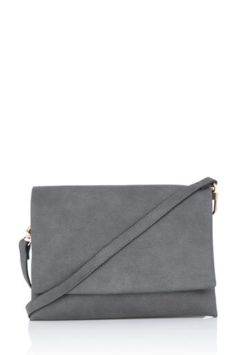 Warehouse, DOUBLE COMPARTMENT CROSSBODY Dark Grey 0
