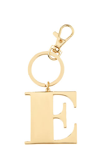 Warehouse, E INITIAL KEYRING Gold Colour 0