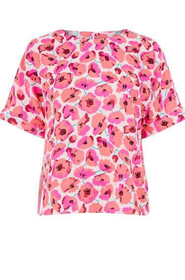 Warehouse, POPPY PRINT T-SHIRT Neutral  Print 0