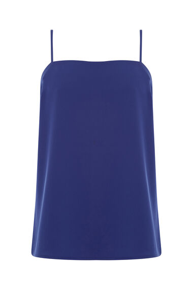 Warehouse, SQUARE NECK CAMI Bright Blue 0