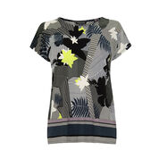 Warehouse, ABSTRACT STRIPE FLORAL TOP Multi 0