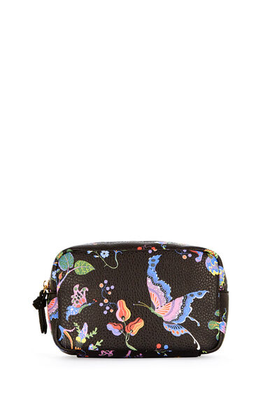 Warehouse, Printed Wash Bag Black Pattern 0