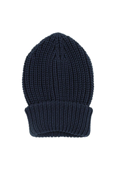 Warehouse, CHUNKY RIBBED HAT Navy 0