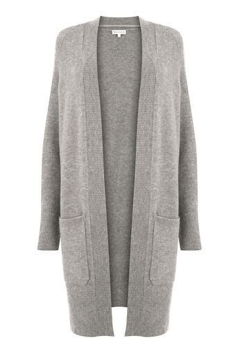 Warehouse, SOFT LONG LINE CARDI Dark Grey 0