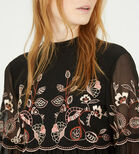 Warehouse, EMBROIDERED GYPSY SMOCK DRESS Black 4