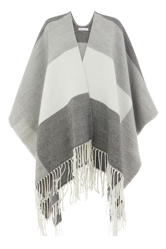 Warehouse, CHECKED CAPE Grey Pattern 0