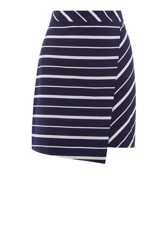 Warehouse, CELIA STRIPE SKIRT Blue Stripe 0