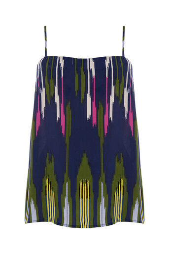 Warehouse, RAINBOW IKAT CAMI Navy 0