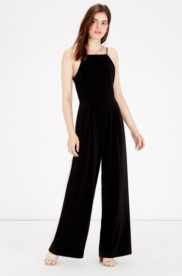 Warehouse, STRAPPY JUMPSUIT Black 0