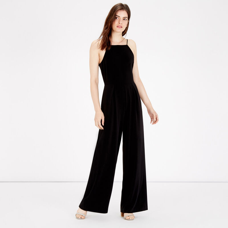 Warehouse, STRAPPY JUMPSUIT Black 1