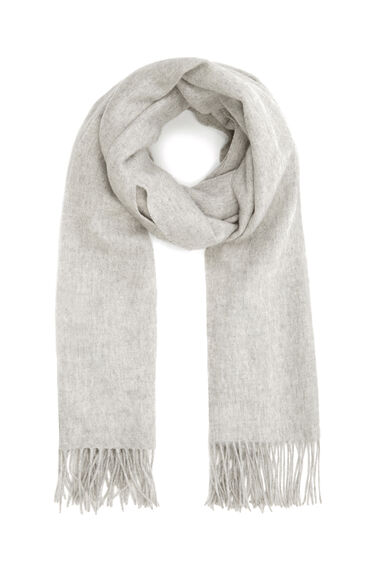 Warehouse, Wool Scarf Light Grey 0