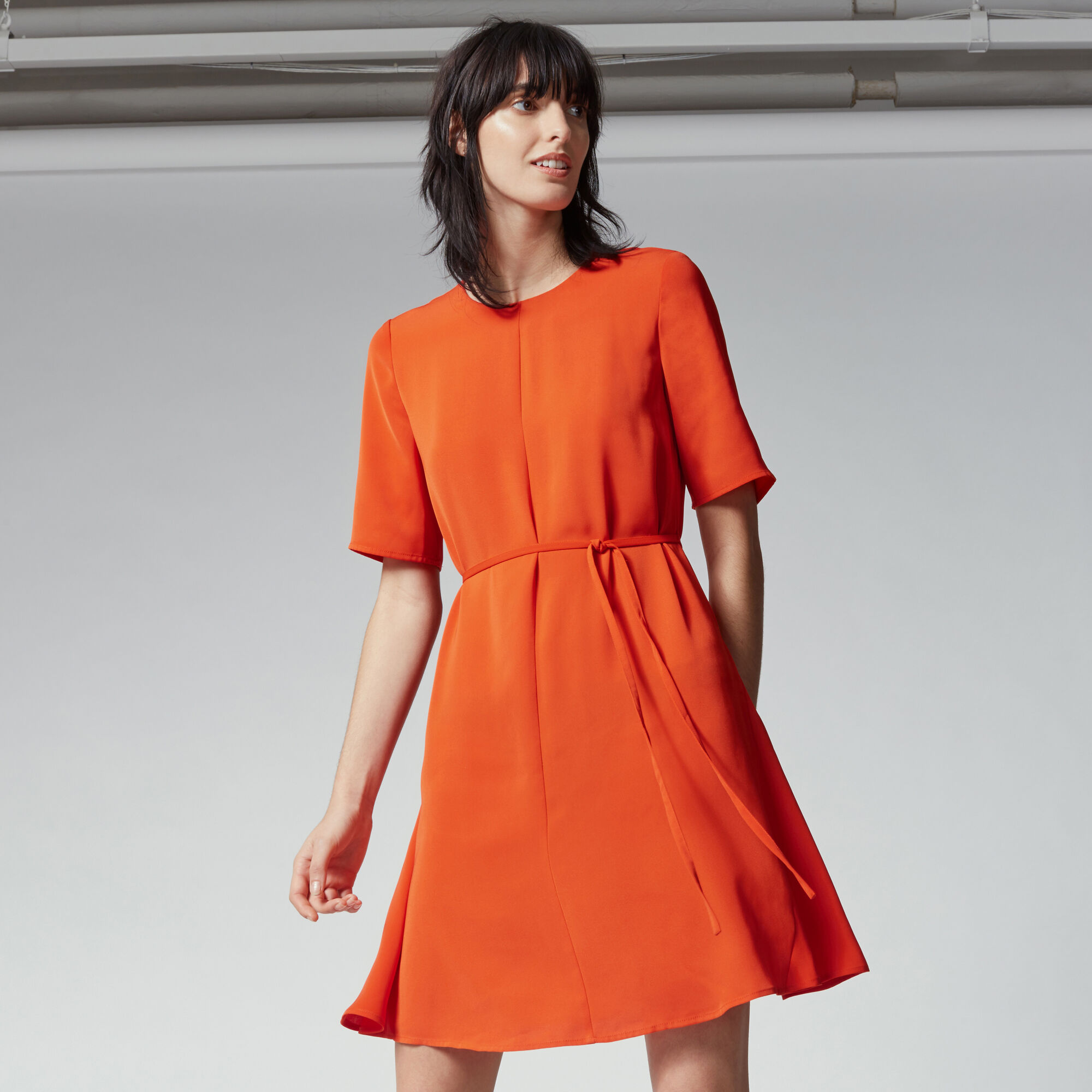 Warehouse, FLIPPY DRESS Bright Red 1