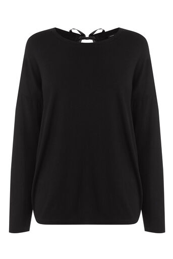 Warehouse, TIE BACK TOP Black 0