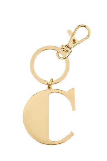 Warehouse, C INITIAL KEYRING Gold Colour 0