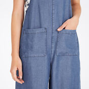 Warehouse, Strappy Culotte Jumpsuit Mid Wash Denim 4