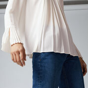 Warehouse, BOX PLEAT TOP Cream 4