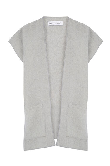 Warehouse, POCKET FRONT CAPE Light Grey 0
