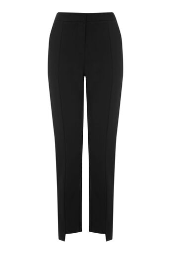 Warehouse, STEP HEM TROUSERS Black 0